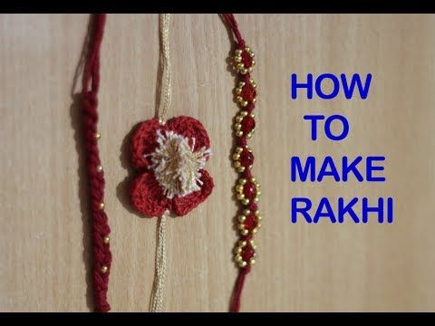 HOW TO MAKE RAKHI AT HOME | RAKHI MAKING TUTORIAL | DO IT YOURSELF - YouTube