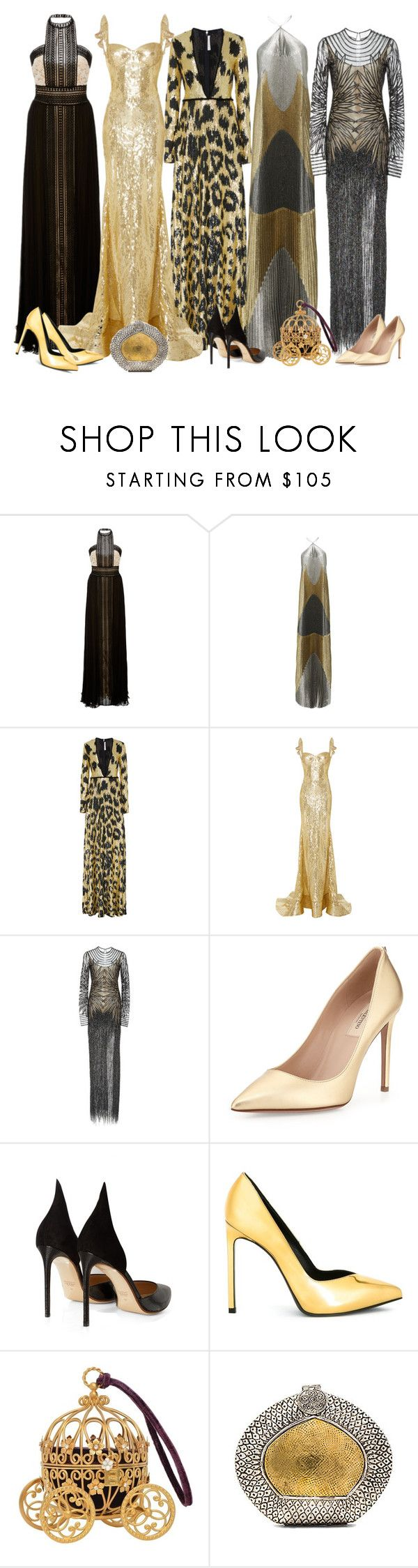 """Naeem Khan Gowns"" by cherieaustin ❤ liked on Polyvore featuring Naeem Khan, Valentino, Francesco Russo, Yves Saint Laurent and From St Xavier"
