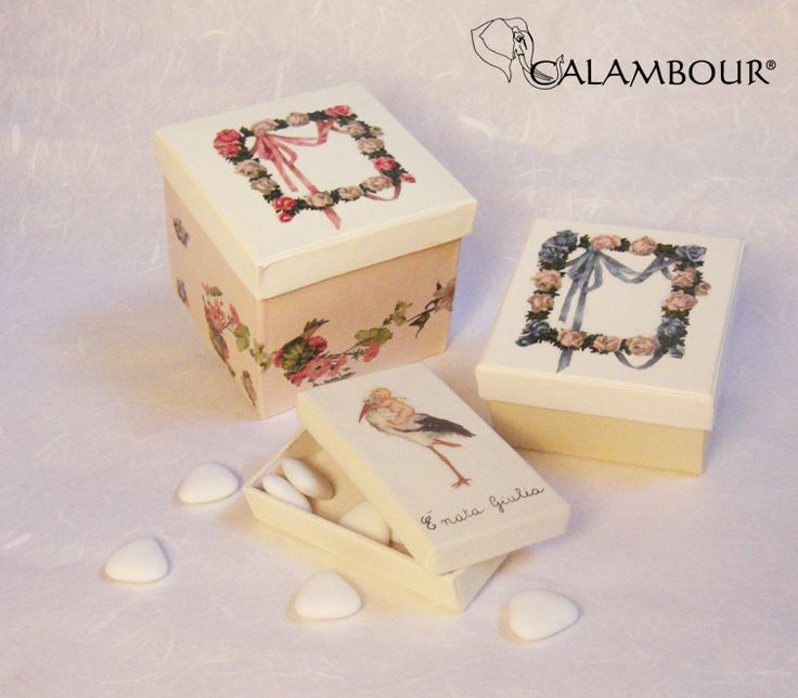 SWEET BOXES DECORATED WITH CALAMBOUR http://www.calambour.it/it/le-nostre-carte/carte-di-riso/pau.html#!Pau_032