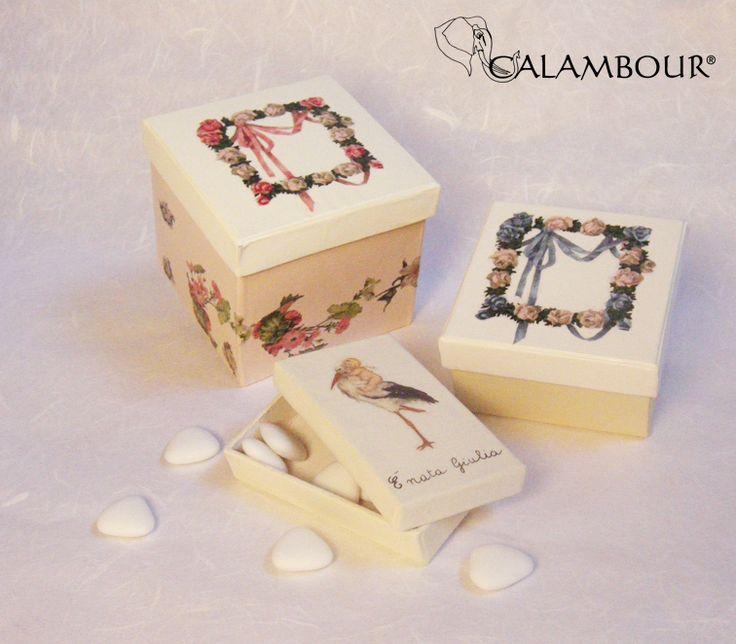 SWEET BOXES DECORATED WITH CALAMBOUR http://www.calambour.it/it/le-nostre-carte/carte-di-riso/pau.html#!Pau_032