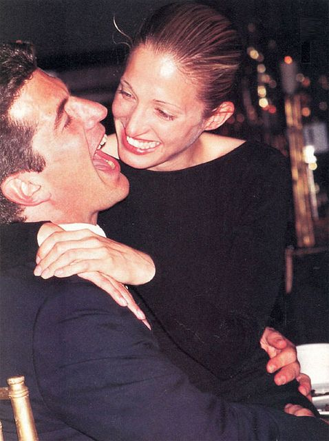 John F. Kennedy, Jr. and his wife Carolyn Bessette-Kennedy