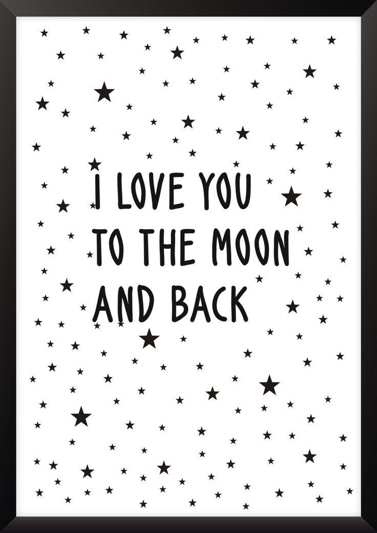 Plakat To the moon - różne rozmiary NORD&CO