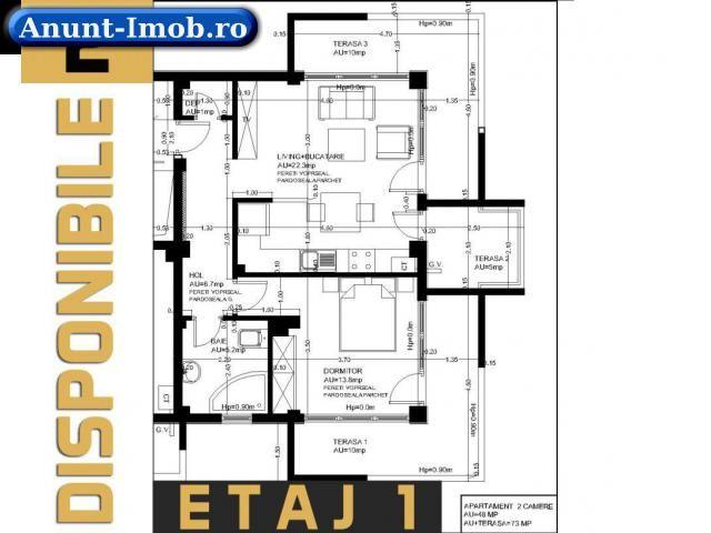 Anunturi Imobiliare Apartamente 2 cam , 73 MP