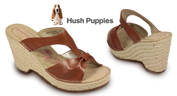 Update your footwear for the new season – slip on a  pair of Hush Puppies Pemba Wedge Sandals and save 64%