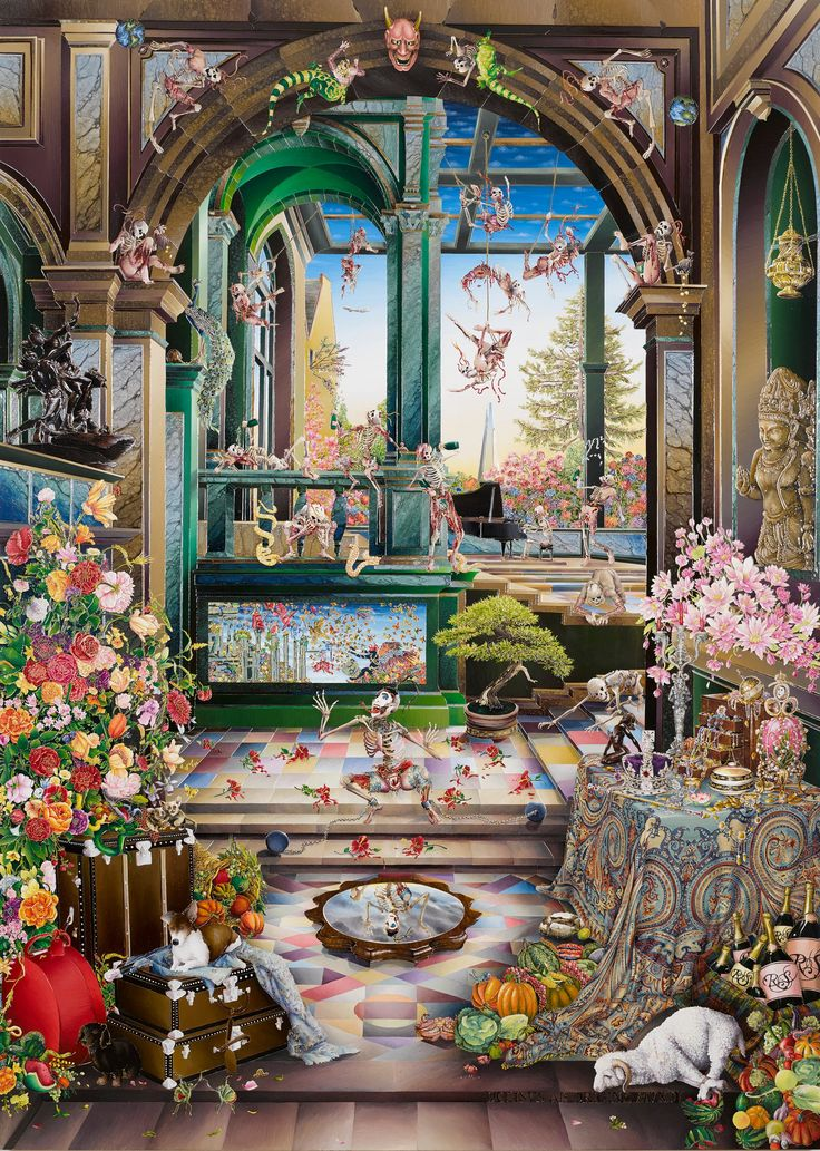 In a series of wild self portraits, Raqib Shaw has turned Old Masters paintings into unhinged tableaux of colour, energy and spirituality