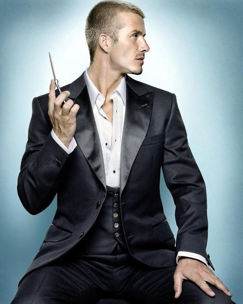 David Beckham. That's a beautiful tux.