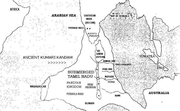 Kumari Kandam Location Map-http://booksfact.com/mysteries/lemuria-continent-kumari-kandam-ancient-tamil-kingdom-facts.html