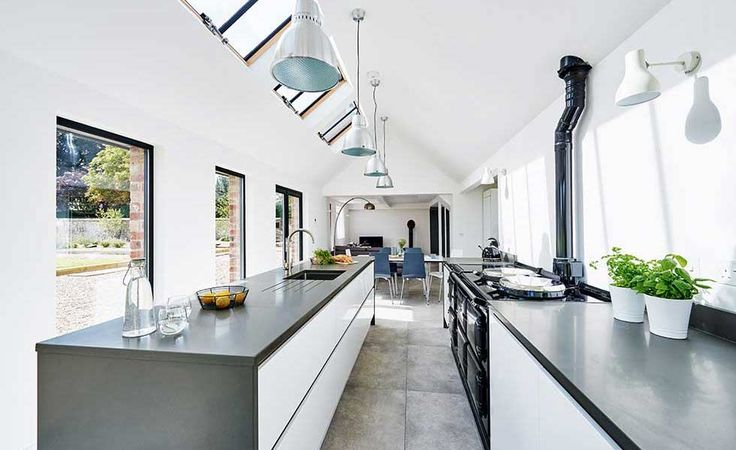 190 best modern aga kitchen images on pinterest kitchen for Cottage kitchen extensions