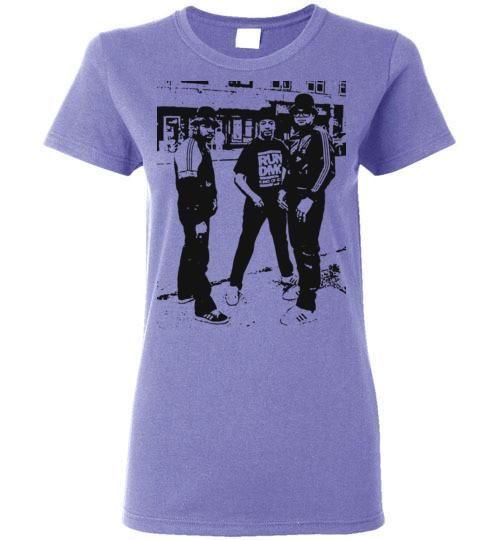 RUN DMC, Classic Hip Hop,New York,Old School Rap,Def Jam,v3, Gildan Ladies T-Shirt