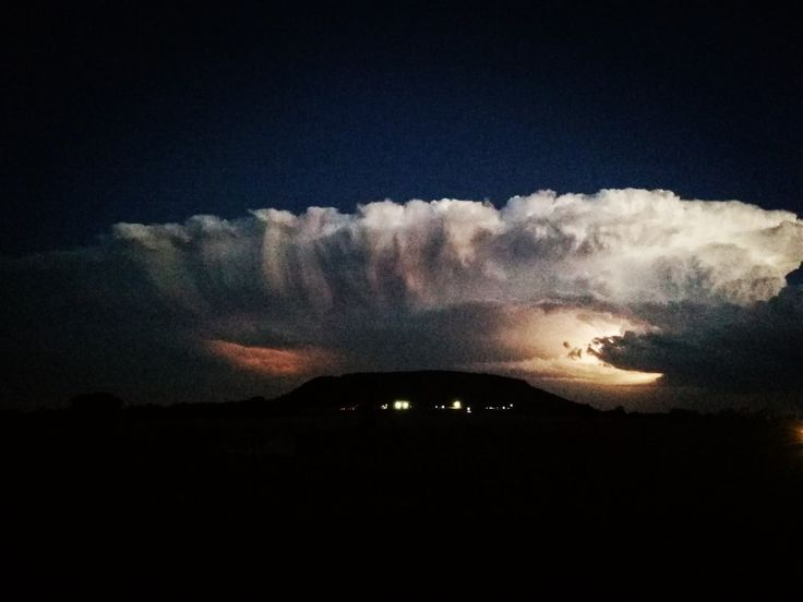 A storm coming in from the east over Walkerville, Gauteng, South Africa.