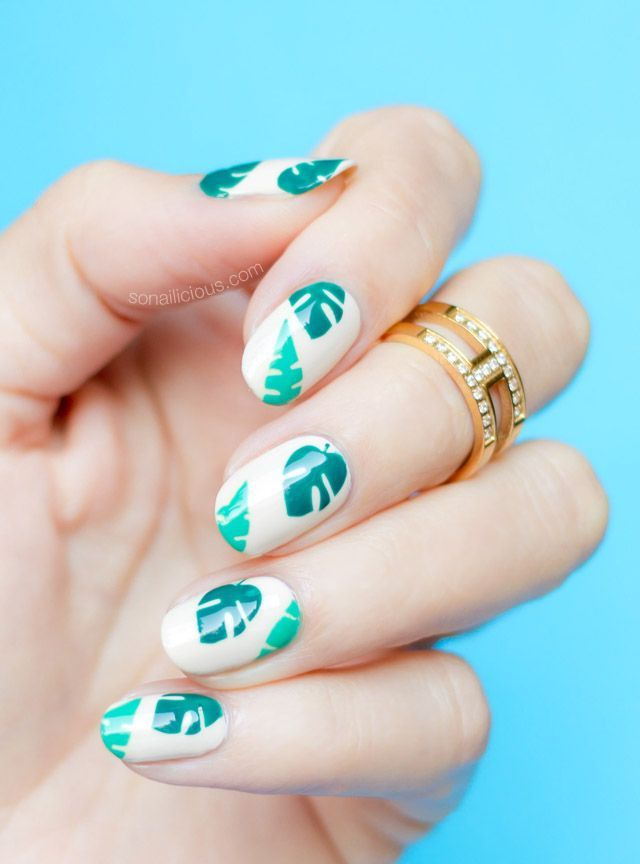 travel themed nails