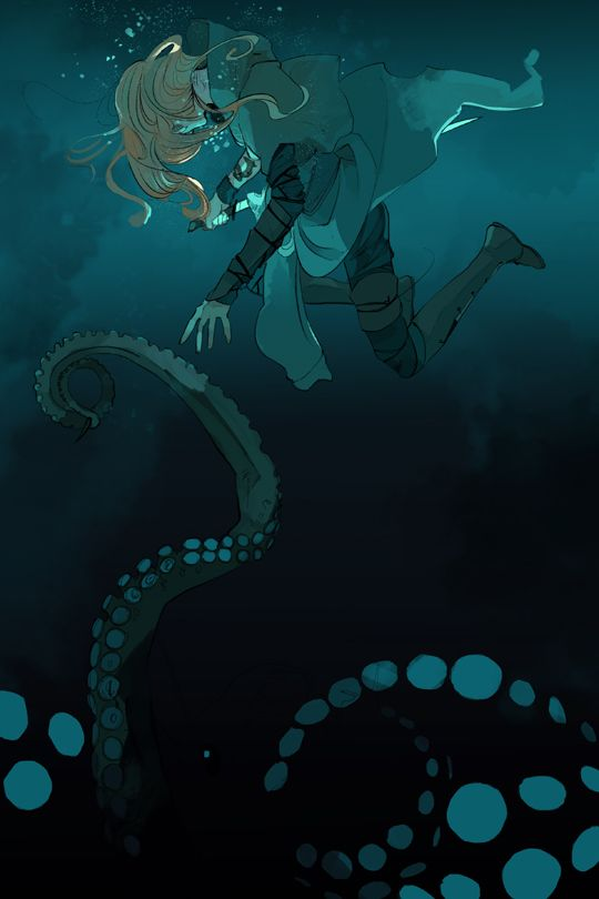 Cassandra Jean's postcard of Emma Carstairs underwater for Lady Midnight release