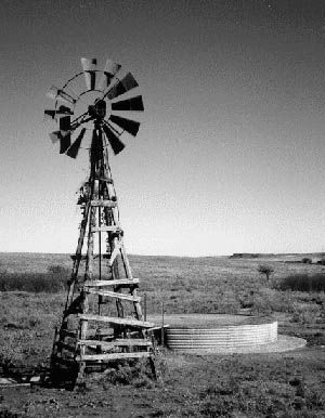 Old windmill & tub. Doesn't it look lonely done in B & W. Love it!
