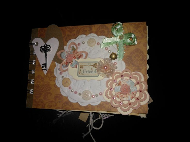 #handmade scrapbook for the customers best friend. Scrapbook created around the theme of friendship #somethingspecial #moonback