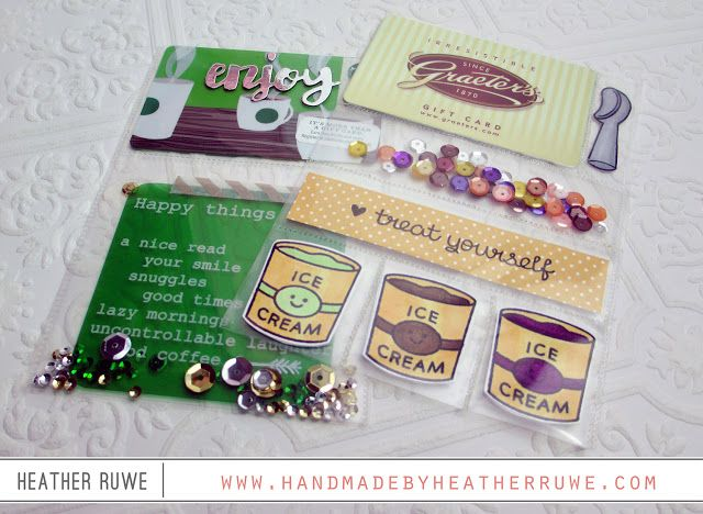 Handmade by Heather Ruwe: Clear Pocket Cards using the Fuse Tool