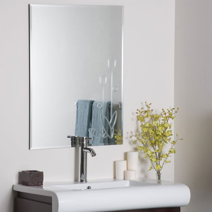 Decor Wonderland Flora Frameless Wall Mirror Traditional Bathroom