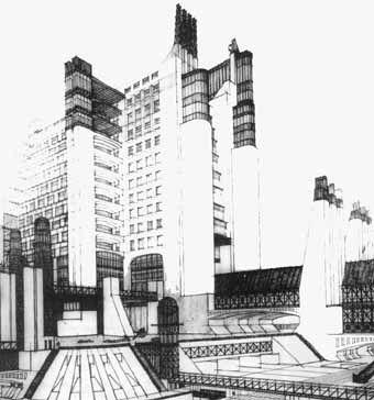 arquitectura futurista antonio sant elia -metropolis