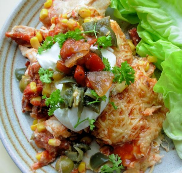 ... Tart: Smoky Chicken and Chorizo Mexican Enchilada Baked Casserole