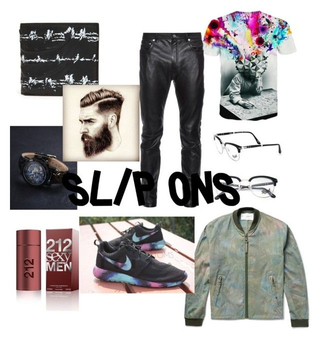 """""""explode your mind"""" by daniellefigueroa on Polyvore featuring Tom Ford, Yves Saint Laurent, NIKE, Alexander McQueen, Persol, Carolina Herrera, men's fashion, menswear and slipons"""