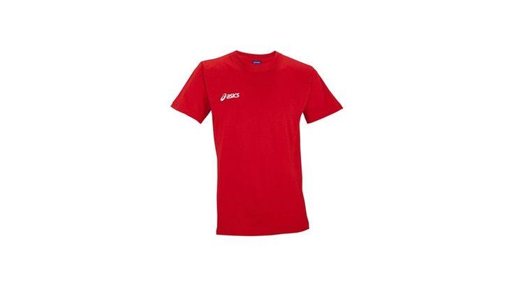 Asics rövid ujjú póló piros unisex