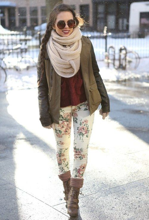 Floral jeans can be incorporated into outfits any time of year!
