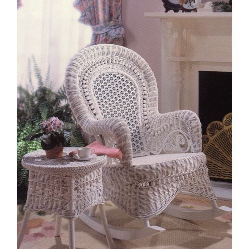 country wicker rocking chair porch - Wicker Rocking Chair