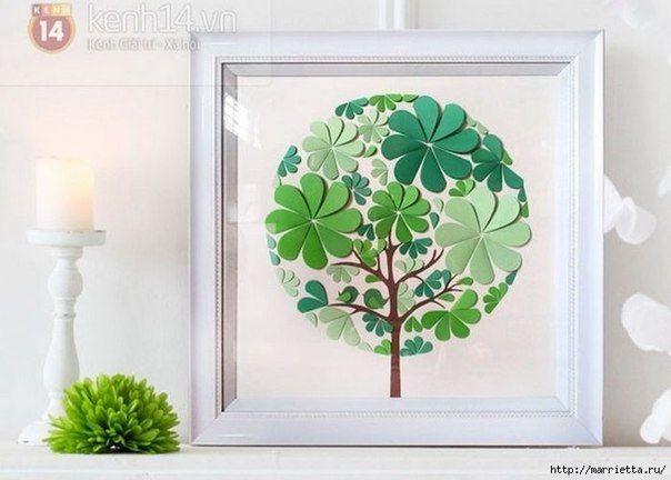 How to Make Easy Paper Heart Flower Wall Art | www.FabArtDIY.com