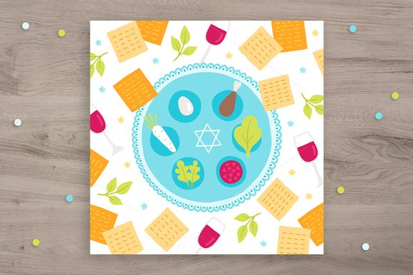 Passover greeting card by miumiu on @creativemarket