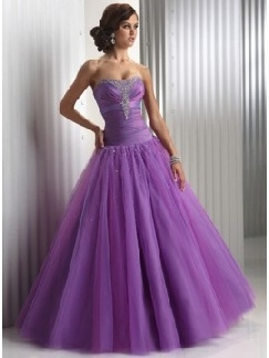 purple corset prom dress