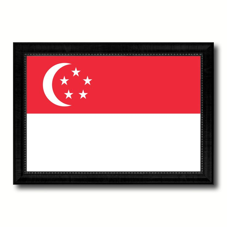 Singapore Country Flag Canvas Print, Picture Frame Home Decor Gifts Wall