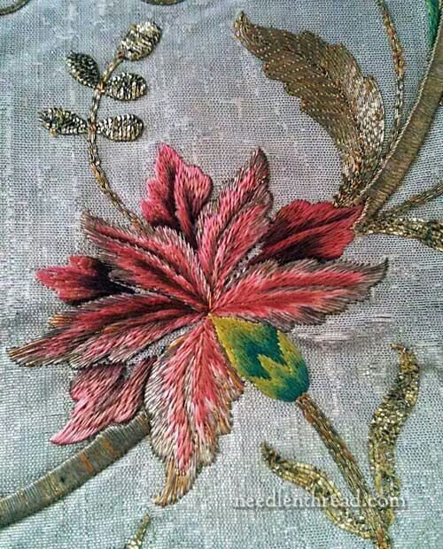 silk embroidery + goldwork