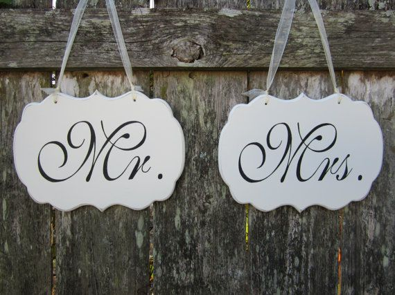 Wedding Signs / Hand Painted Shabby Chic Mr. and by kimgilbert3, $39.00