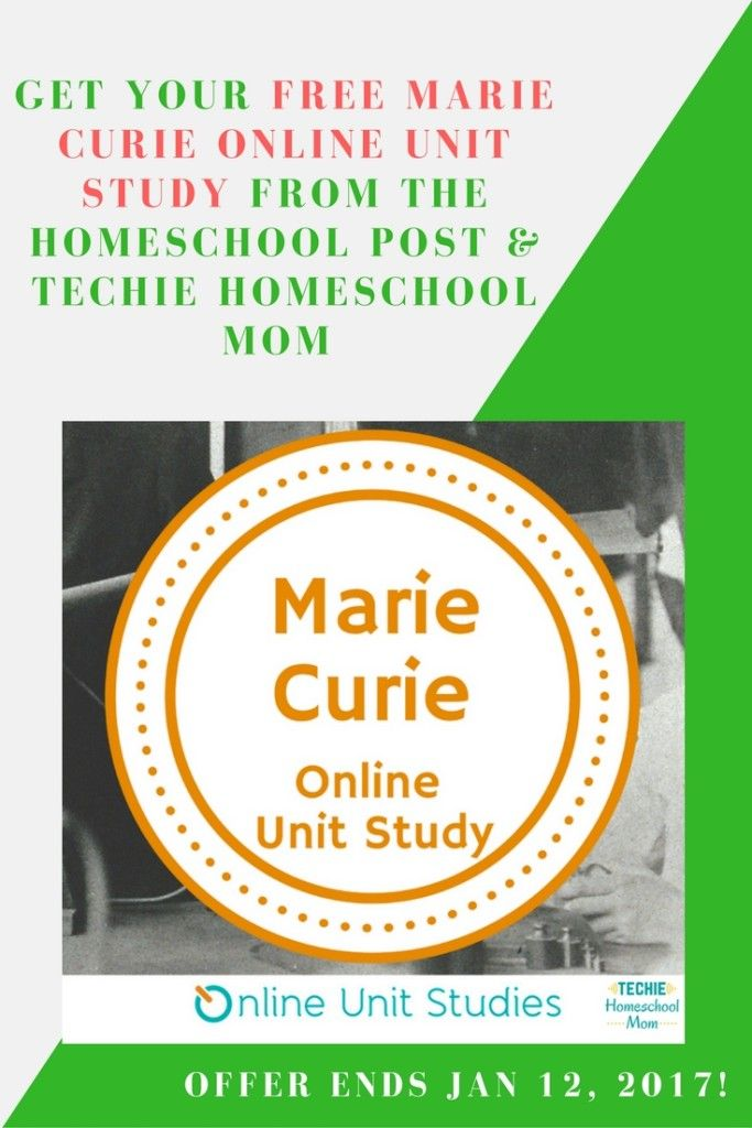 Would you like to learn about Marie Curie in your homeschool? Get this free online unit study today!