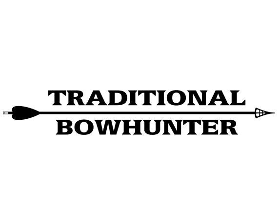 Bow Hunter Vinyl Decal - Bow Hunting Sticker - Traditional Bowhunter