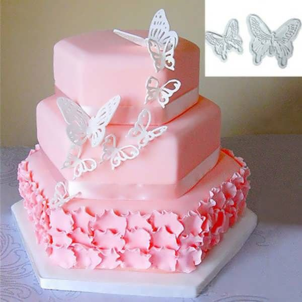 2Pcs Plastic Butterfly Cake Cookies Cutter Cale Decorating Tool  What does include #goodbuy:  Enjoyable shopping at cheapest prices Best quality goods 24/7 support & easy communication 1 day products dispatch from warehouse Fast & reliable shipment (7-25 business...