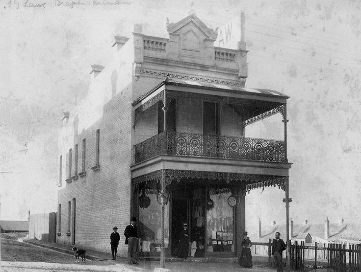 Sydney James Law opened his drapery store in Weston street,Balmain in 1881…