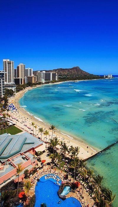 Waikiki Beach and Diamond Head, Oahu, Hawaii. #hawaii