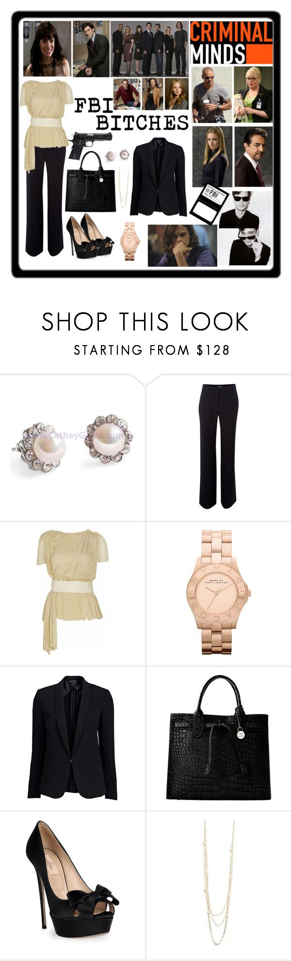 """""""I LOVE CRIMINAL MINDS"""" by emily-redhead-extraordinaire ❤ liked on Polyvore featuring Pied a Terre, Chloé, Marc by Marc Jacobs, rag & bone, Dooney & Bourke, Valentino, Rachel, TALLY WEiJL, oversized watches and dr reid"""