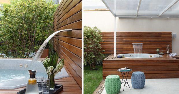 Arquitetura e Construção - Teresa Simões projetou esta área de lazer com spa