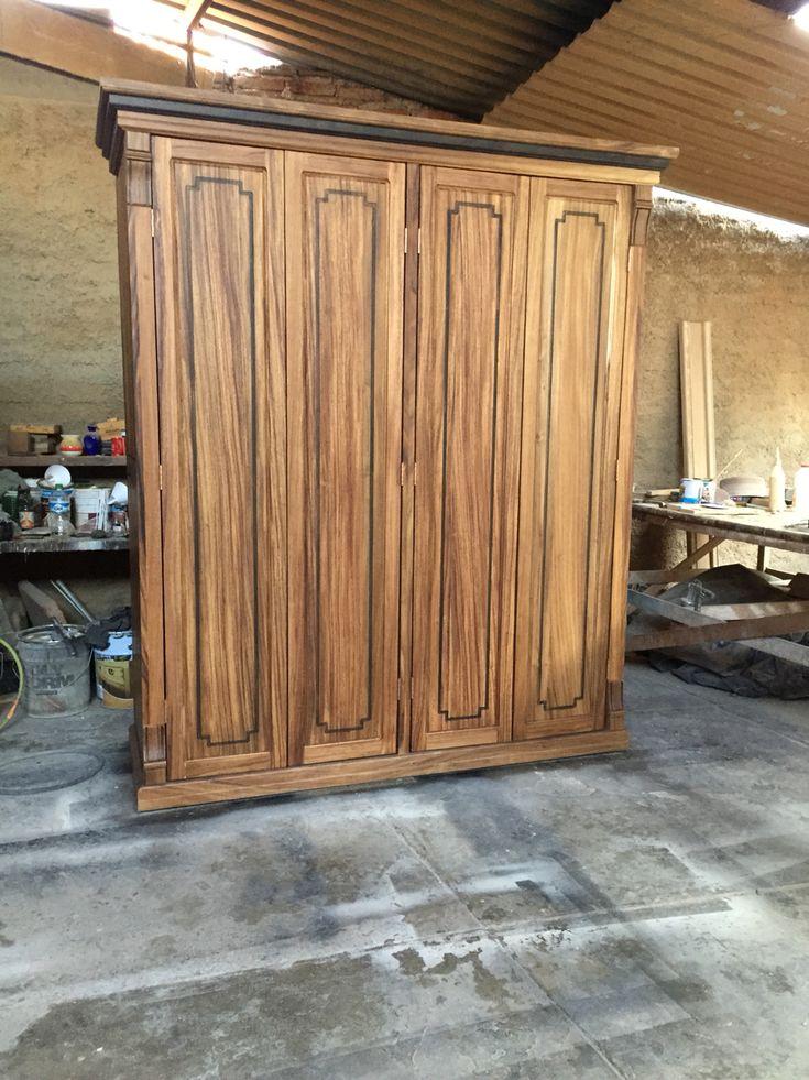 Listos nuestros roperos este esta hecho en madera de - Armarios roperos rusticos ...