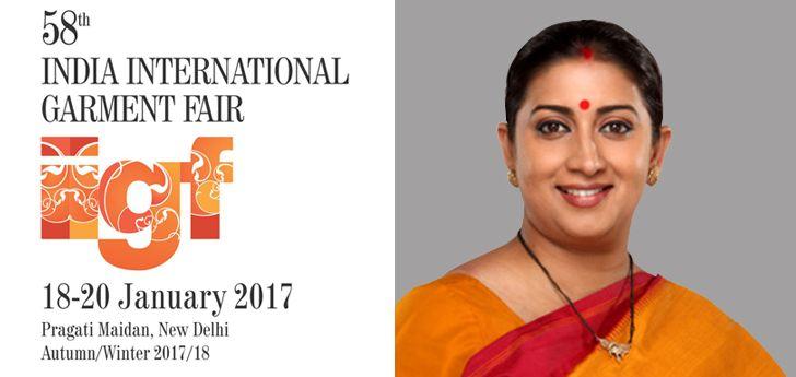 Smriti Irani inaugurated 58th IIGF 2017:  The 58th India International Garment Fair (IIGF) is being held from 18th to 20th January 2017 at Pragati Maidan in #NewDelhi.  Know More<> http://www.bizbilla.com/hotnews/Smriti-Irani-inaugurated-58th-IIGF-2017-5097.html  #Bizbilla #IIGF2017 #SmritiIrani #B2BFair