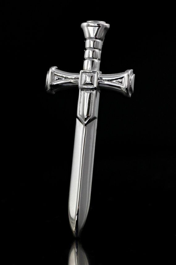 Handmade Sword 925 Sterling Silver with Rhodium by ZografosCrosses, €20.00