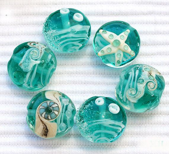 totally gorgeous lampwork glass beads from etsy seller