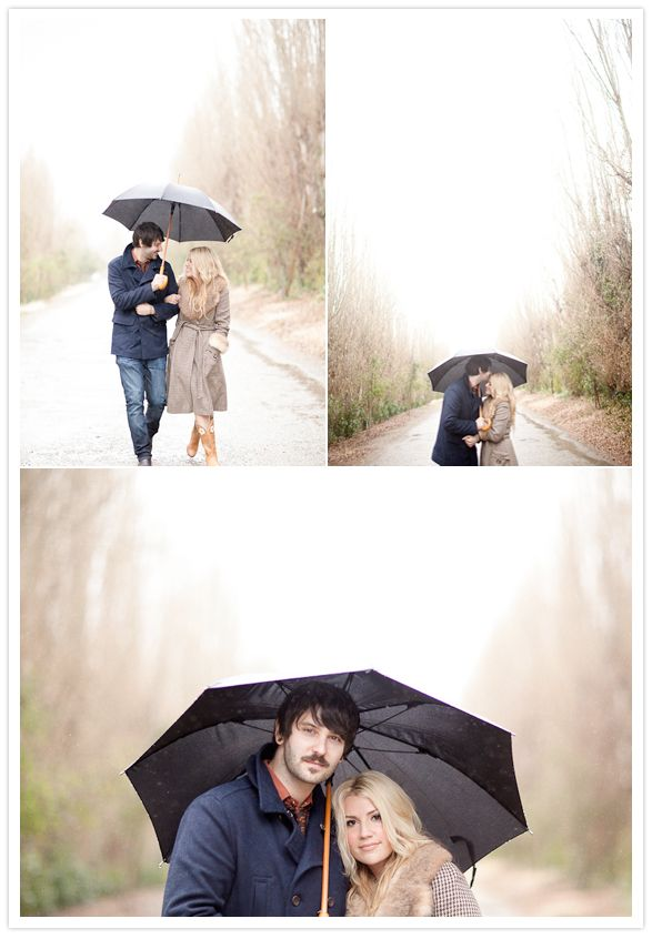 love this so much... clothes and all. rainy fall engagement session in Santa Ynez