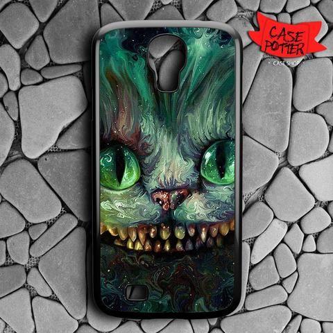 Cheshire Cat Art Colour Samsung Galaxy S4 Black Case