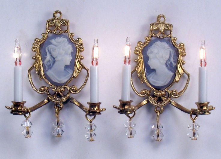J. Getzan, Dollhouse Miniatures, Chandeliers, Sconces