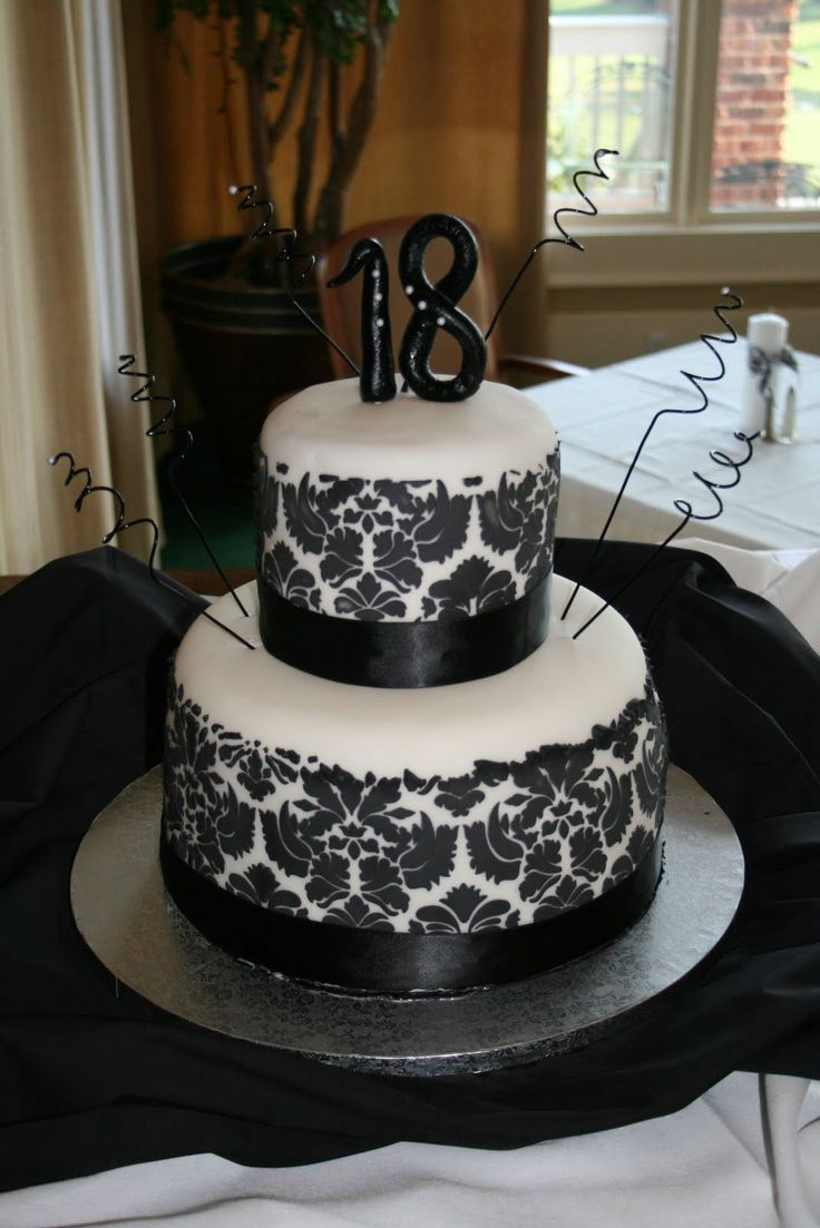 Black White Birthday Cakes Pictures