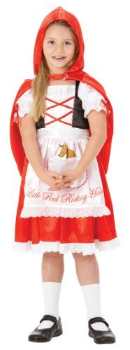 Rubie's Little Red Riding Hood Fancy Dress (Medium) - http://www.cheaptohome.co.uk/rubies-little-red-riding-hood-fancy-dress-medium/  Rubie's Little Red Riding Hood Fancy Dress (Medium) Short Description Sizes: 3-4 years; 5-6 years; 7-8 years Childrens Little Red Riding Hood fancy dress costume. Complete with dress and red hooded cape. Ideal for book day! Keep away from fire. Rubie's Little Red Riding Hood Fancy Dress (Medium) Key Features  Sizes: 3-4 years; 5-6