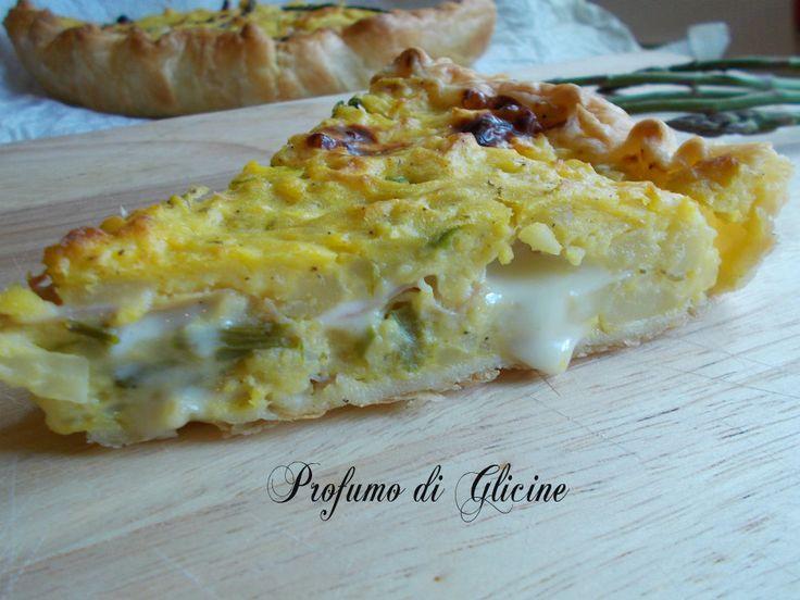 Torta sbriciolata patate e asparagi - ricette picnic - torta salata - ricette con pasta sfoglia - Blog Profumo di Glicine