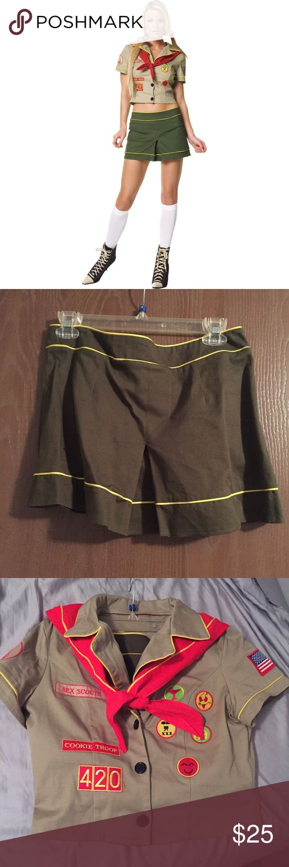 Girl Scout Halloween costume Girl Scout Halloween costume. Marked as a large, fits like a medium. Costume was worn once. Costume will be ironed before shipping! Hurry and buy so you can wear it this year! Other